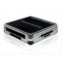Conceptronic CMULTIRWU2 USB 2.0 Nero, Argento lettore di schede