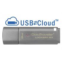 Kingston Technology DataTraveler Locker+ G3 8GB 8GB USB 3.0 (3.1 Gen 1) Type-A Argento unità flash USB