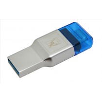 Kingston Technology MobileLite Duo 3C USB 3.0 (3.1 Gen 1) Type-A/Type-C Blu, Argento lettore di schede